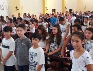 1° Retiro da Catequese 2018 -  Etapa Eucaristia