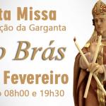 São Brás: Missa com Bênção da Garganta