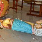 ABSURDO: Evangélico destrói igreja e quebras todas imagens em Minas Gerais