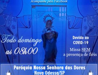 COVID-19: Padre Ocimar anuncia missas dominicais AO VIVO pelo Facebook