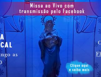 Paróquia transmite Missas ao VIVO pelo Facebook